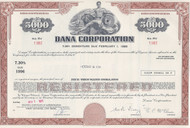 Dana Corporation $5000 bond certificate 1971