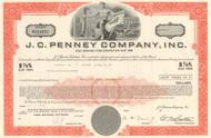 J. C. Penney bond certificate 1970's (retail chain) - orange