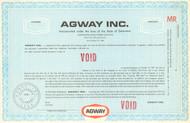 Agway Inc. bond certificate specimen circa 1964  (livestock feed)