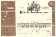 Hershey Foods Corporation stock certificate 1970's  (chocolate)
