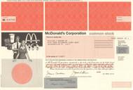 McDonald's Corporation stock certificate 2012 (burgers and fries)