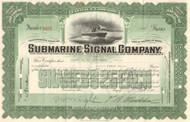 Submarine Signal Company stock certificate 1936 (fathometer)