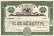 Fruit of the Loom stock certificate (underwear brand) - green
