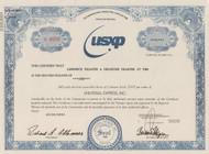 Universal Express Inc. stock certificate (financial scandal)
