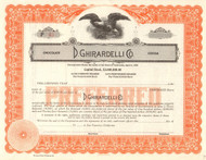 D. Ghirardell Co. stock certificate circa 1900 (chocolate and cocoa)