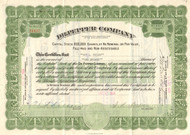 Dr Pepper Company stock certificate 1939
