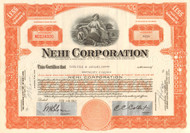 Nehi Corporation stock certificate 1950's (soft drink) - orange
