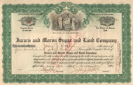 Jucaro and Moron Sugar and Land Company stock certificate 1914 (Cuba cane company)