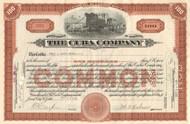 Cuba Company stock certificate 1923 (railroad and sugar)