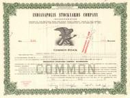 Indianapolis Stockyards Company stock certificate 1960's (livestock)