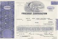 Fruehauf stock certificate - purple - less than 100 shares