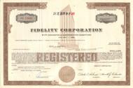 Fidelity Corporation bond certificate 1968 (Virginia)