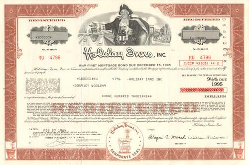 Holiday Inns Inc  $100,000 bond certificate 1984 (hotels)