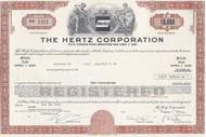 Hertz Corporation bond certificate - brown.  Uncommon car rental piece.