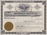 Brownson Motor Company - unissued, circa 1936