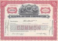 General Motors (GM) stock certificate 1950's - red