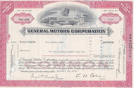 GM stock certificate - light red