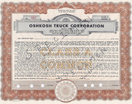 Oshkosh Truck stock certificate