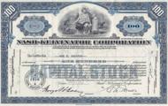Nash-Kelvinator stock certificate - blue