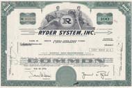 Ryder System stock certificate 1976 - James Ryder as president