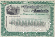Cleveland and Sandusky Brewing Company stock certificate unissued