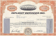 Inflight Services Inc stock certificate