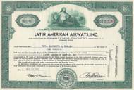 Latin American Airways, Inc stock certificate 1946