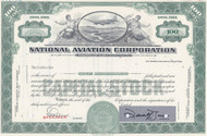 National Aviation Corporation - specimen stock certificate