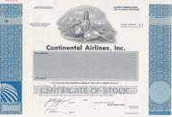 Continental Airlines, Inc specimen stock certificate