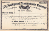 Hektograph Manufacturing Company stock certificate 1880's