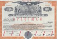Pan American World Airways - specimen $1000 bond certificate