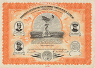International Gordon Bennett Race - Chicago, 1912 membership certificate
