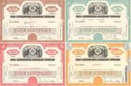 Erie-Lackawanna Railroad Company stock certificates - set of 4 colors