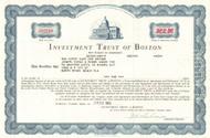 Investment Trust of Boston stock certificate 1964