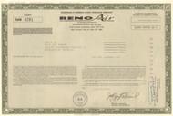 Reno Air stock warrant certificate 1993