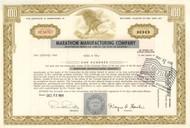Marathon Manufacturing Company stock certificate