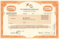 XO Communications 2002 stock certificate