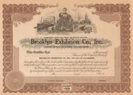Brooklyn Exhibition Company circa 1926 stock certificate