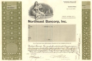 Northeast Bancorp stock certificate 1983