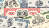 Set of 25 general stock certificates