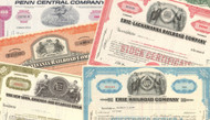 Railroad Stock Certificates - Five (5) Piece Set