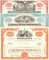 Five General Industry Stock Certificates - Set