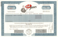 Ask Jeeves 2001 (now Ask.com)  stock certificate