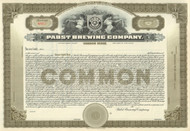 Pabst Brewing Company stock certificate circa 1910