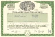 Dollar General Corporation 1996 stock certificate