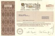 Dollar General Corporation 1995 stock certificate