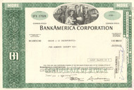 BankAmerica Corporation 1974 stock certificate