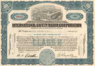 International Safety Razor Corporation stock certificate 1950's