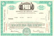 Armour-Dial Inc stock certificate 1968