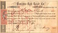 Panama Rail Road Co.stock certificate 1870